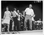 Mountain Dance and Folk Festival - Dancers on Stage (Bill McElreath on Right)